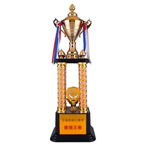 Trofeos Grande Football Victory Award Ping Pong Vittoria Partita di Basket con Regalo di Stelle filanti (Color : Gold, Size : 77cm)