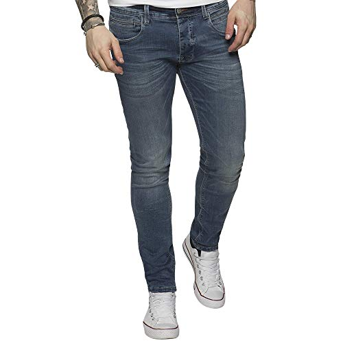 Da Uomo Enzo Designer Jeans Lavaggio Stone Wash Gamba Dritta Regular Fit casual denim pants