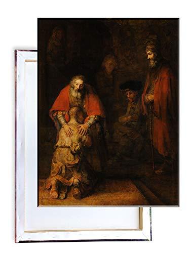Unified Distribution Rembrandt - Rückkehr des verlorenen Sohnes - Klassisches Gemälde - Replik auf Leinwand 80x60 cm
