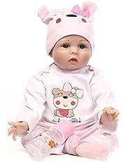 Sausiry NPK 45cm 18 inch Simulation Baby Doll Soft Vinyl Silicone Newborn Doll Children's Toys Girls Dolls