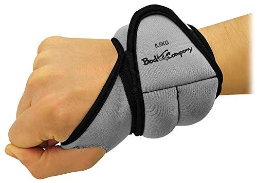 Bad Company Gewichtsmanschetten mit Daumenschlaufe I 2 x 0,5 kg grau