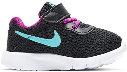 Nike Tanjun (TDV), Scarpe da Ginnastica Unisex-Bambini, Black/Aurora Green/Hyper Violet, 25 EU