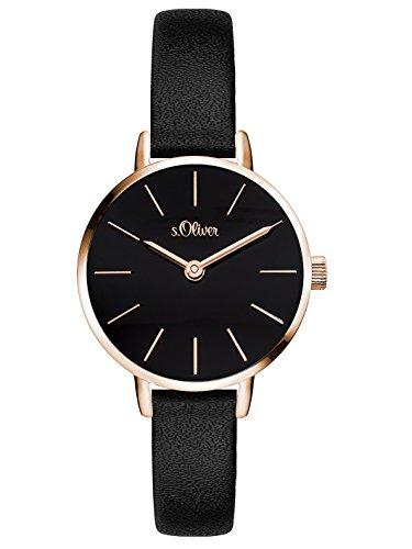 s.Oliver Damen Analog Quarz Armbanduhr mit PU Armband SO-3542-LQ