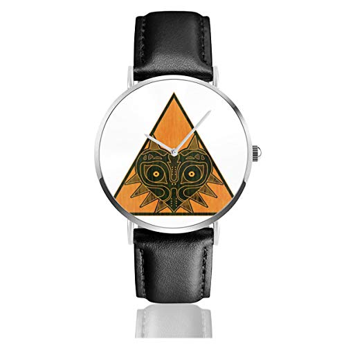 Unisex Business Casual Mask of Love Majora Legend of Zelda Watches Quartz Leather Watch with Black Leather Band for Men Women Young Collection Gift