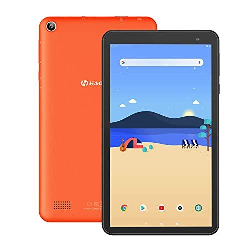 HAOQIN 7インチAndroid 9タブレット ROM16GBクアッドコアIPS液晶デュアルカメラWifi Bluetooth日本語説明書付き/H7 (オレンジ)