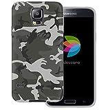 dessana Coque de protection pour Samsung Galaxy S5 / Neo - Camouflage - Gris militaire