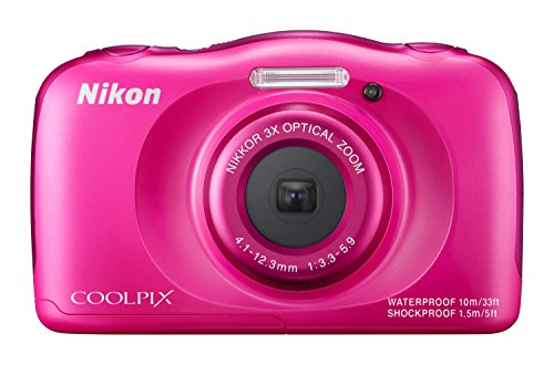 Nikon COOLPIX S33 Waterproof Digital Camera (Pink) - International Version
