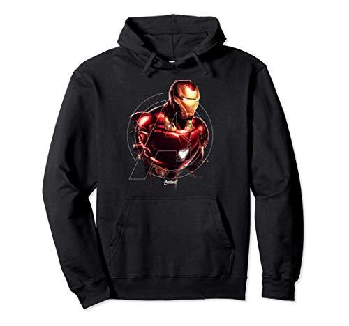 Marvel Avengers Endgame Iron Man Portrait Felpa con Cappuccio
