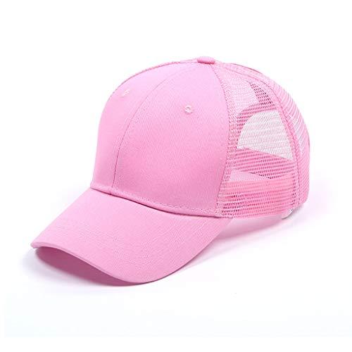 CheChury Gorra de Béisbol Casual Hats Hip-Hop Sombrero para Mujer Tenis Deporte Golf Verano Tejido de Transpirable Ajustable al Aire Libre