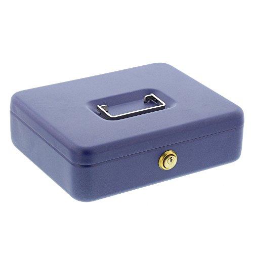 Burg-Wächter Geldkassette mit Zylinderschloss, Stahlblech, Universa CKS 257, Blau
