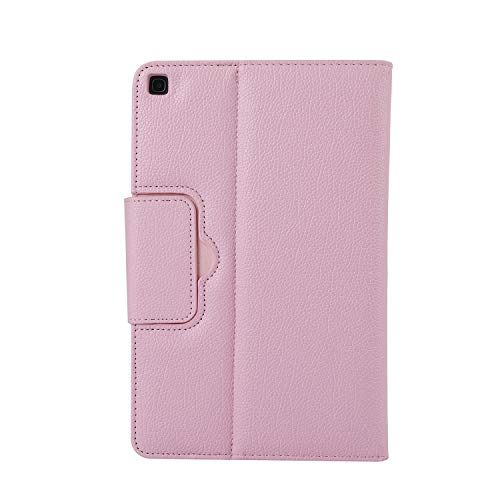 BlinkCat Keyboard Case for Galaxy Tab S6 10.5 inch 2019 (SM-T860 / SM-T865), PU Leather Folio Stand Cover with Detachable Magnetic Wireless Bluetooth Keyboard - Pink