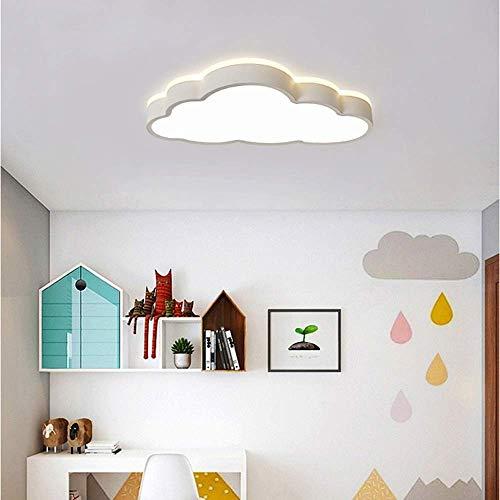 Hanglamp hanglamp, hanglamp, hanglamp, wolk, plafondlamp, afstandsbediening, dimmen, rondom, jongens, meisjes, kinderkamer, kleuterschool, diameter 50 x 28 cm, kleur: roze/blauw