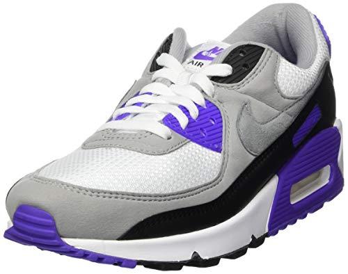 Nike Cd0881, Scarpe da Corsa Uomo, White Particle Grey Hyper Grape Black Lt Smoke Grey, 38.5 EU
