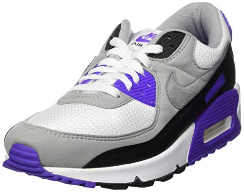 Nike CD0881, Zapatillas para Correr Hombre, White Particle Grey Hyper Grape Black Lt Smoke Grey, 43 EU ⭐