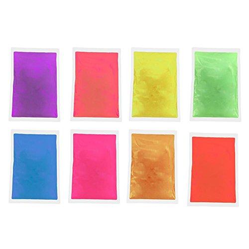 cineman Fosforescerende verf, 8 stuks autoluminescent Color Powder, fluorescerend poeder, kleurpigment