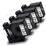 Pristar 9mm Compatibile Nastro per Etichette per DYMO 40913 s0720680 Nero su Bianca per Dymo LabelManager 160 280 210D PnP LabelWriter 450 Twin Turbo