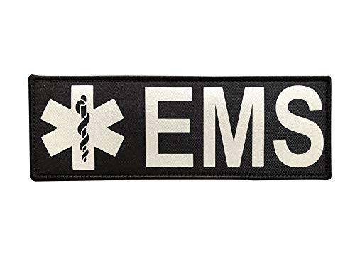 Reflective EMS EMT Star of Life Back Panel Patch(8.5x3 Inch)
