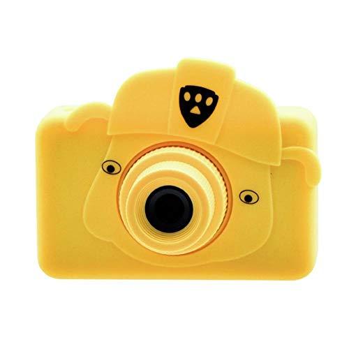 Kinder-Digitalkamera 1080P HD Digitalkamera Minikamera-Spielzeug-Kind Multifunktionale Wasserdicht Und Staubdichte Großer Kapazitäts-Spielzeug-Kamera-Videogerät IEAST (Color : Yellow 32G card)