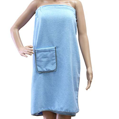 Polyte - Toalla de baño de microfibra para mujer - Secado rápido - Azul - Talla única