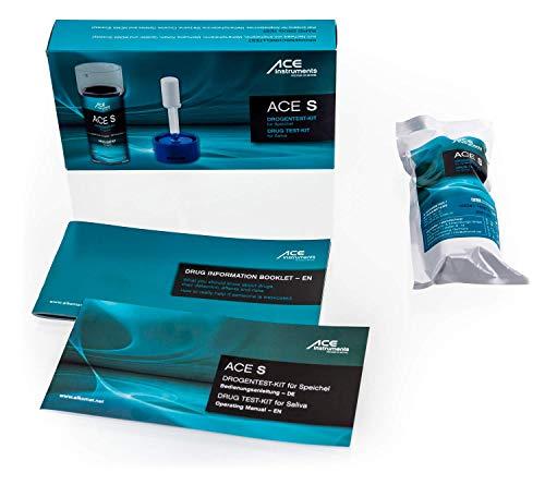 ACE S Multi Drogentest Speichel | 6 versch. Drogenarten | Speed Kokain Marihuana Crystal MDMA Opiate | Speicheltest zur Schnell-Bestimmung