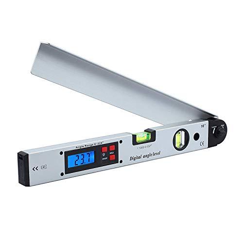 NBWS digitale gradenboog 400mm / 16-inch digitale gradenboog met LCD-waterpas 0-225 ° digitale kantelmeter hoekmeter voor verticale horizontale dubbele waterpas