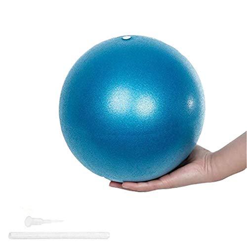 ZHOUZHOU Pelota de Mini Pilates 25cm Pelota de Ejercicios de Sports Balón de Yoga para Ejercicios Abdominales Masaje y Gimnasio en Casa y Ejercicios básicos de rehabilitación de Hombros (Azul)