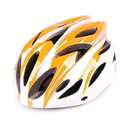 Casco De Bicicleta Casco De Bicicleta De Montaña MTB con Protección Ajustable para Adultos Casco De Protección De Seguridad Cap Naranja