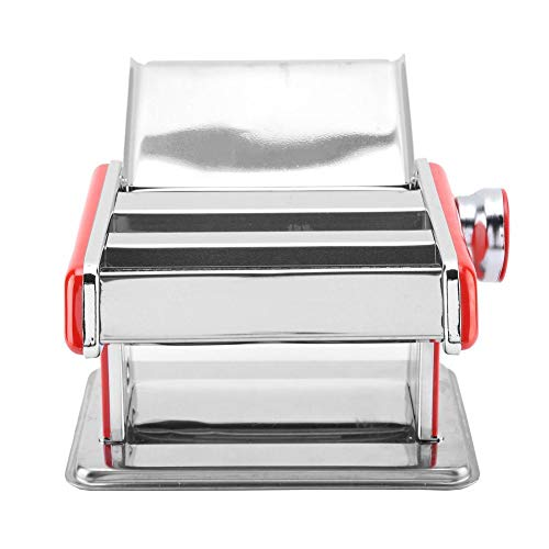 Hochwertige Nudelmaschine Manuelle Nudelrollmaschine aus Edelstahl mit sechs verschiedenen Nudeldickenstufen MEHRWEG VERPACKUNG socialme-eu