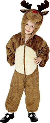 Smiffy's-30774 Miffy Disfraz de Reno, con Traje Entero con Capucha, Color marrón, S-Edad 4-6 años (30774)