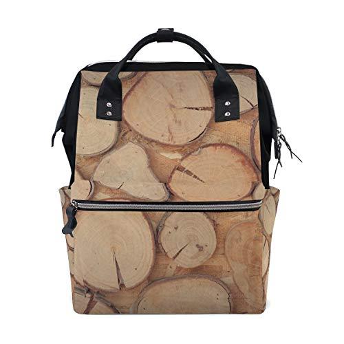 FAJRO Awesome Holzwand-Reiserucksack, Leinen, Handtasche für die Schule