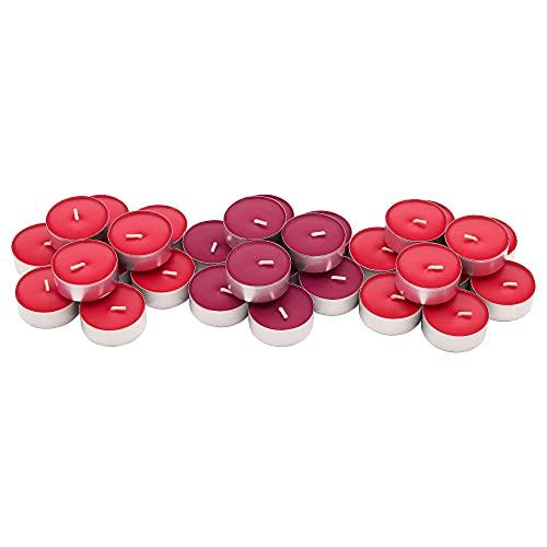 CFStores Home Candeline aromatiche Confezione da 30 e 100 pezzi Pack di Candeline Aromatizzanti e Decorative (Rosso Aroma frutti di bosco, 30)