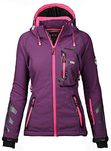 Geographical Norway Damen Softshell Funktions Outdoor Regen Jacke Sport [GN-Thea-Lila-Gr.S]