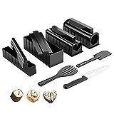 GUO Sushi Maker Kit Set De Herramientas De Sushi 11 Pc/Juego con Cuchillo De Sushi, para Sushi DIY O como Regalo
