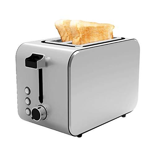 Toaster Grille-Pain Extra Large À 2 Fentes Longues 7 Réglages de Brunissage avec Plateau À Miettes Amovible et Couvercle À Poussière Dégivrage Réchauffage Annuler 750W