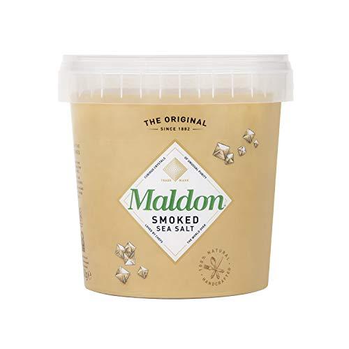 Maldon Sea Salt reine und geräucherte Meersalz Flocken, 500 g Eimer