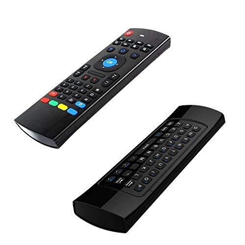 Acemax MX32.4G Wireless Air mouse con tastiera QWERTY con funzione di apprendimento IR Best partner per Android TV Box Matricom g-box Q XBMC Kodi media player HTPC mini PC