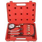 KUNTEC 8PCS Professional Engine Compression Tester Cylinder Gauge Tester Kit M10 M12 M14 M18