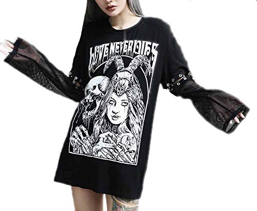 Hellomiko Sweat à Capuche Steampunk Sweatshirts Noir