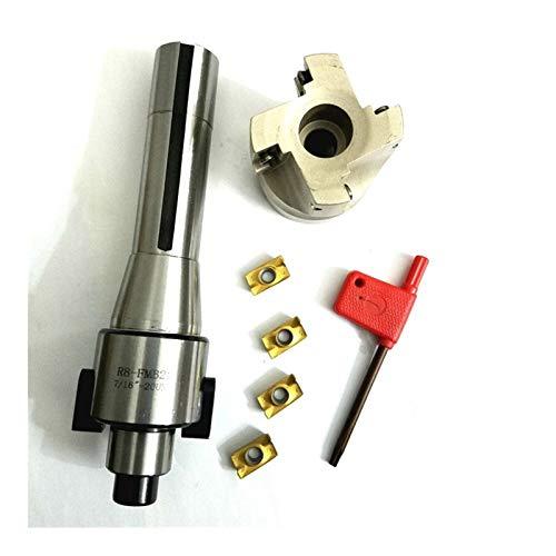 QWXZ Holzwerkzeuge 400R Gesicht Schaftfräser + R8 FMB22 Arbor + 4pcs APMT1604 Karbid-Einsätze mit Schlüssel for Fräswerkzeuge Stanzpositionierung