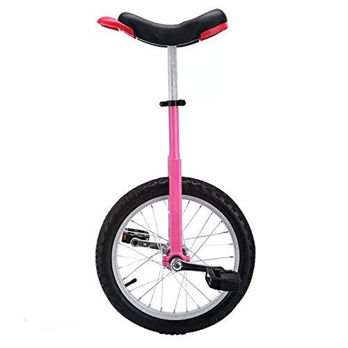"""HWLL Einräder 16/18 Zoll Kinder Einrad, Ergonomisches Sattel Single Wheel Balance Bike, zum Jonglieren/Unterhalten Von Outdoor-Sportarten (Color : Pink, Size : 18\"""")"""