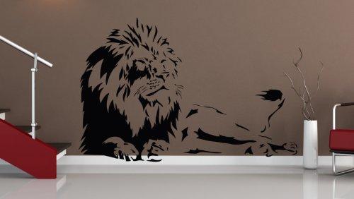 WANDTATTOO LÖWE AFRIKA TIGER BAUM WANDAUFKLEBER WANDSTICKER WALLPRINT (Größe 59 x 90 cm) Nr.127
