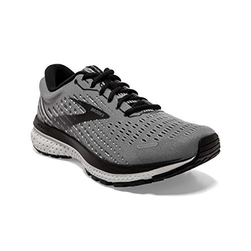 Brooks Men's Ghost 13, Primer Grey/Pearl/Black, 13 Medium