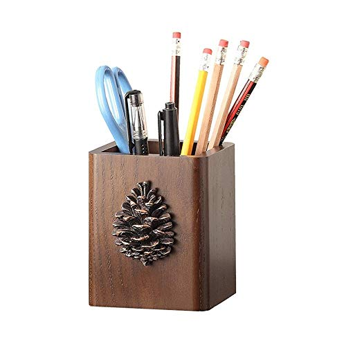 Portalápiz Estante para bolígrafos Soporte lápiz Titular de la pluma, creativo sencillo de múltiples funciones de madera natural titular de la pluma Caja de almacenamiento Decoración, adaptable a sobr