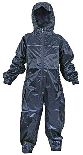DRY KIDS Little Boys' Waterproof Rainsuit 5-6 Years Navy Blue