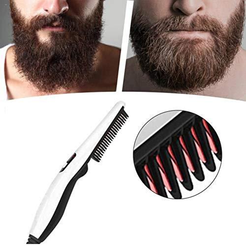 Further Peine alisador de Barba para Hombre, Peine rápido de acondicionador de Barba para Hombres, Rubio Multifuncional para Hombres y Mujeres, Calor rápido, Color Blanco