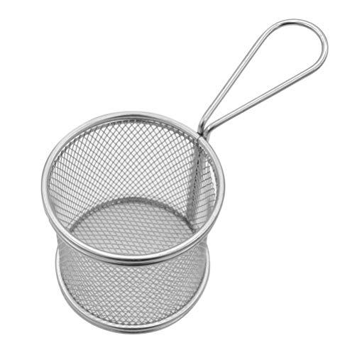 Bestonzon tondo cestino per friggere fritture cestello di cottura in acciaio INOX colino da cucina strumenti di cottura