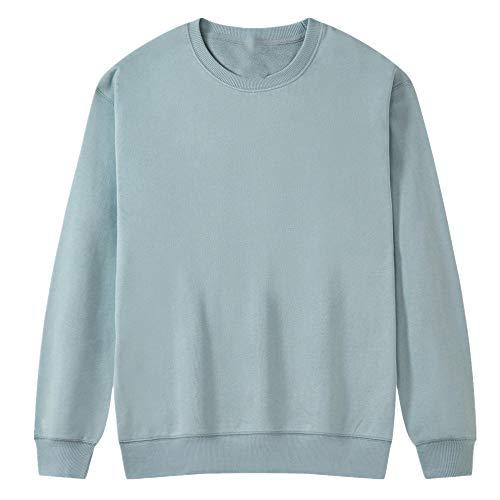 Suéter de primavera y otoño para hombres y mujeres del mismo estilo pareja de algodón puro suelto cuello redondo top