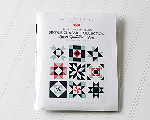 The Quilted Bee Patterns Simple Classic Barn Quilt Transfer Pattern Collection (9) 10x10 patterns included!