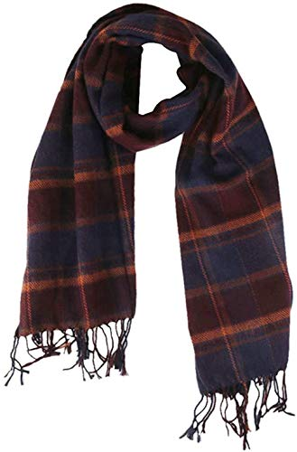 Spielzeug Mode-Frauen Lange Kaschmir-Schal-Tassel Plaid-Schal-Verpackung Warmer Winter Schal Lila