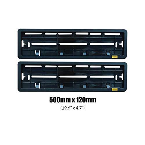 Generic Orbiz Car Number Plate Frame Set of Two (Front and Back) | Orbiz Car Number Plate Frame (2139005, Black)